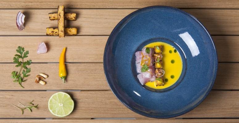 Ceviche de pescado blanco con leche de tigre de ají amarillo (1)
