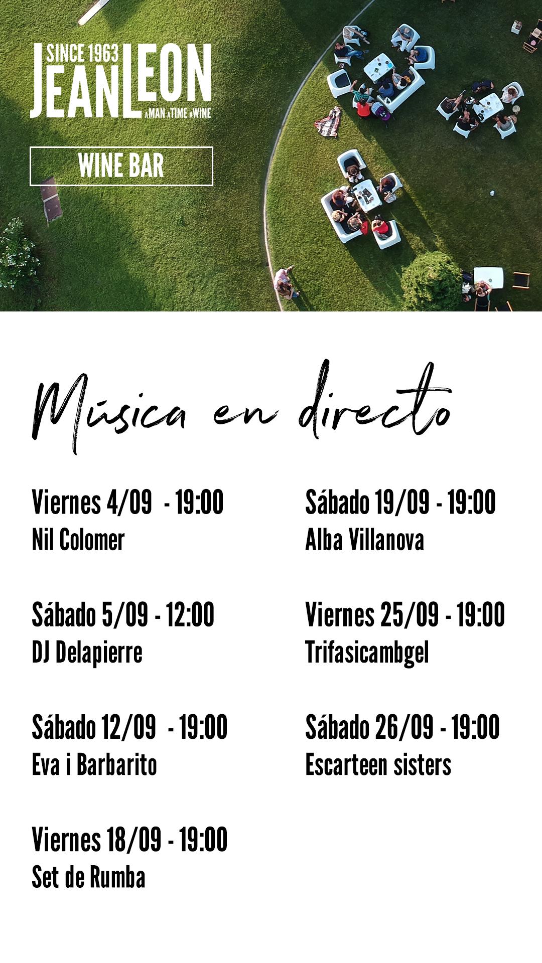 Programa de los conciertos en directo